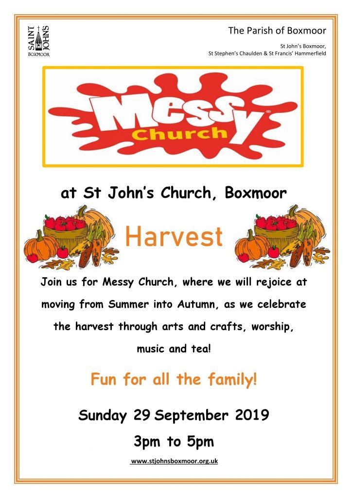 Messy Church September | St John's Church Boxmoor