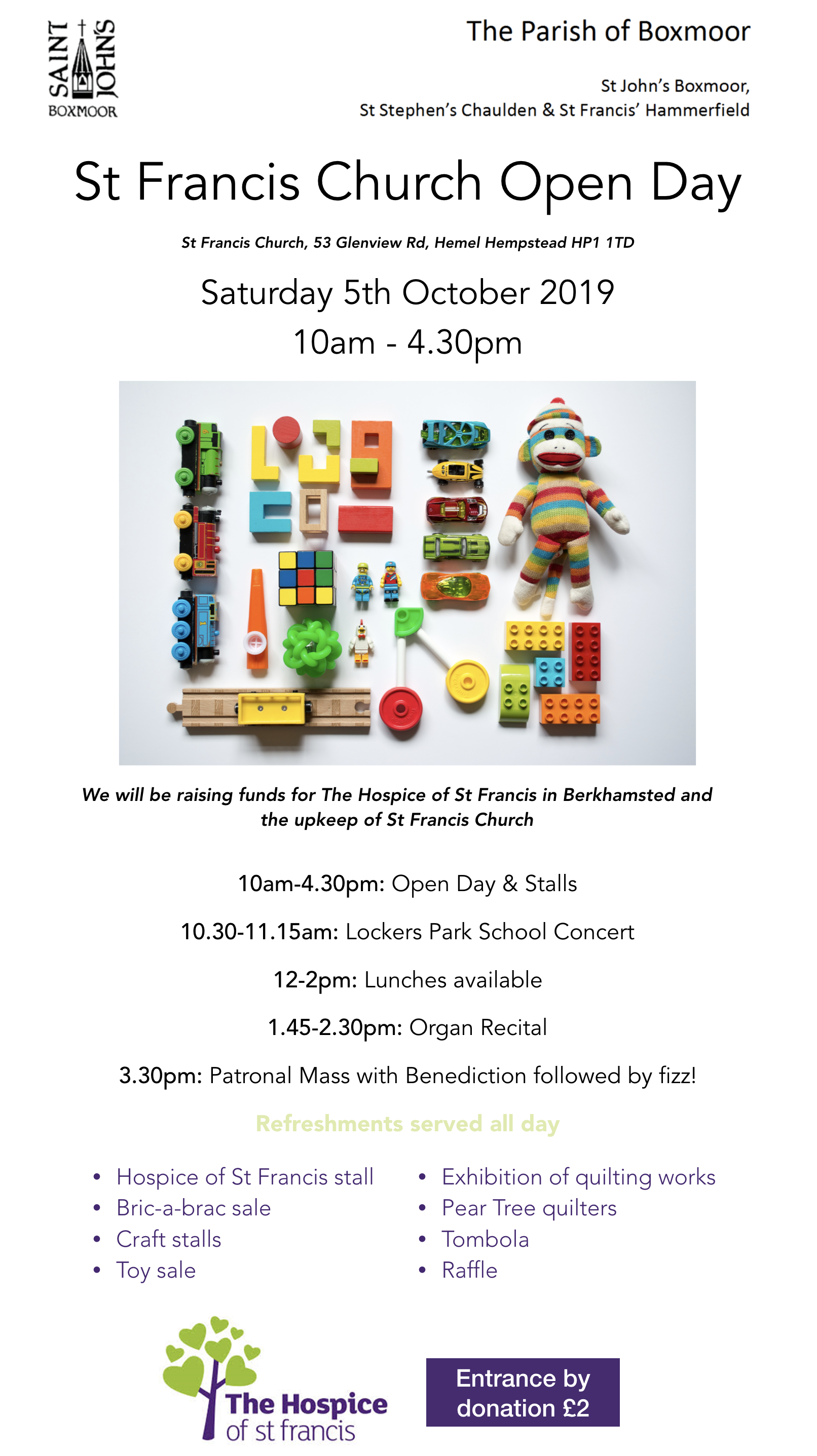 St Francis Open Day | St Francis Church Hemel Hempstead